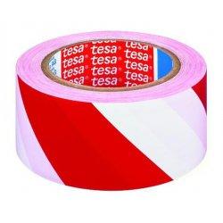Taśma ostrzegawcza biało-czerwona jednostronna 100m
