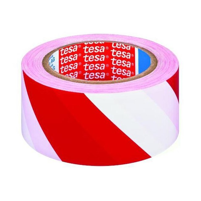 893ebbe5c60650 Taśma ostrzegawcza samoprzylepna czerwono-biała TESA 60760 - Arkadia BHP