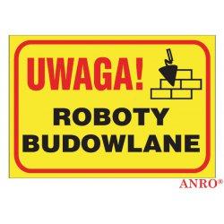 "Tablica budowlana ""Uwaga! Roboty budowlane"""