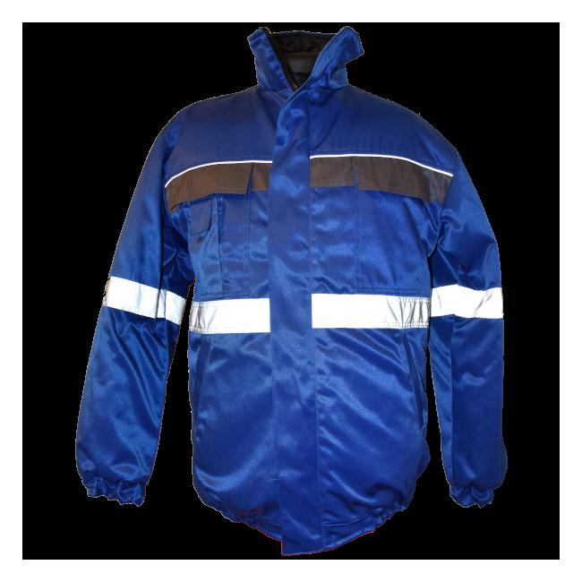Kurtka zimowa niebieska z odblaskami - ARKADIA-BHP
