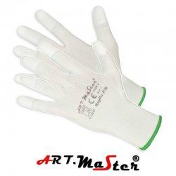 Rękawice ochronne poliestrowe powlekane na czubkach palców poliuretanem RNYPU-FIN