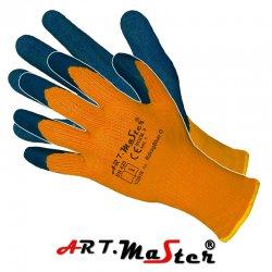 Rękawice robocze, ochronne, ocieplane powlekane lateksem RdragBlue O - Kat. 1
