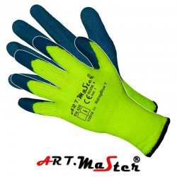 Rękawice robocze, ochronne, ocieplane powlekane lateksem RdragBlue Y - Kat. 1