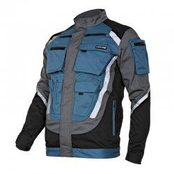 Bluza robocza turkusowo-czarna z pasami odblaskowymi L40403